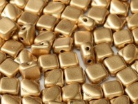 Silky Beads 2-hole 6 x 6 mm Aztec Gold ca 50Stck
