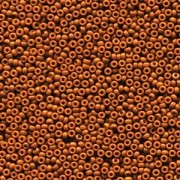 Miyuki Rocailles Beads 2mm 4458 Duracoat opaque dyed Red Brown ca 12gr