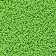 Miyuki Rocailles Beads 2mm 4471 Duracoat opaque dyed Neon Green ca 12gr