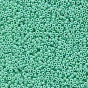 Miyuki Rocailles Beads 2mm 4475 Duracoat opaque dyed Turquoise ca 12gr