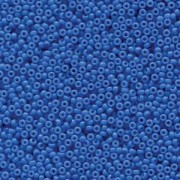 Miyuki Rocailles Beads 2mm 4484 Duracoat opaque dyed Bright Blue ca 12gr