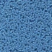 Miyuki Rocailles Beads 2mm 4485 Duracoat opaque dyed Dark Blue ca 12gr