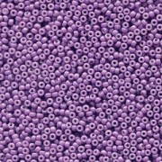 Miyuki Rocailles Beads 2mm 4490 Duracoat opaque dyed Dark Purple ca 12gr