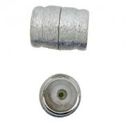 Magnetverschluss Auflage aus echtem Rhodium ca26 x 20 mm