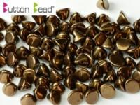 Button Beads 4mm Jet Bronze ca 50 Stück