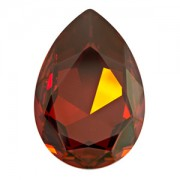 Swarovski Elements Cabochon tropfenförmig 30x20mm Crystal Red Magma foiled