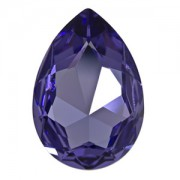 Swarovski Elements Cabochon tropfenförmig 30x20mm Tanzanite foiled