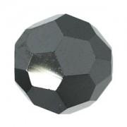 Swarovski Elements Perlen Kugeln 2mm Jet Metallic Silber 2X beschichtet 50 Stück