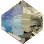 Swarovski Elements Perlen Bicones 4mm Black Diamond Shimmer 50 Stück