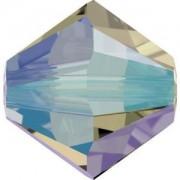 Swarovski Elements Perlen Bicones 3mm Crystal Black Diamond Shimmer 2X beschichtet 50 Stück