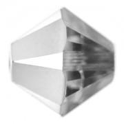 Swarovski Elements Perlen Bicones 4mm Crystal Light Chrome beschichtet 50 Stück