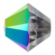 Swarovski Elements Perlen Bicones 4mm Crystal Scarabaeus Green beschichtet 50 Stück