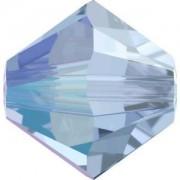 Swarovski Elements Perlen Bicones 3mm Light Sapphire Shimmer 50 Stück