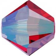 Swarovski Elements Perlen Bicones 3mm Light Siam Shimmer 2X beschichtet 50 Stück