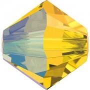 Swarovski Elements Perlen Bicones 4mm Light Topaz Shimmer 50 Stück