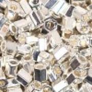 Miyuki Hexagon Beads 8C-0961 3mm bright Sterling Silver plated 11gr