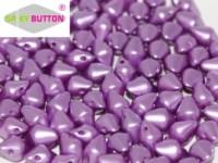 Spiky Button 4,5x6,5mm Alabaster Pastel Lila ca 50 Stueck