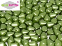 Spiky Button 4,5x6,5mm Alabaster Pastel Olivine ca 50 Stueck