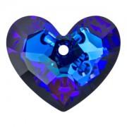 Swarovski Elements Anhänger Truly in Love Herzen 28mm Crystal Bermuda Blue 1 Stück