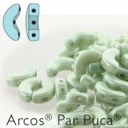 Arcos par Puca ® 5x10mm 03000-14457 Opaque Luster light Green ca 10 gr