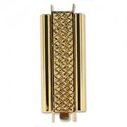 Beadslide Verschluss Cross Hatch vergoldet 10x29mm