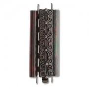 Beadslide Verschluss Squiggle Design Ant. Copper 10x29mm