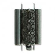 Beadslide Verschluss Squiggle Design Black 10x18mm