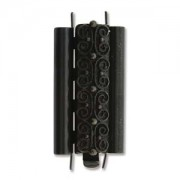 Beadslide Verschluss Squiggle Design Black 10x24mm