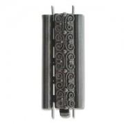 Beadslide Verschluss Squiggle Design Black 10x29mm