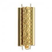 Beadslide Verschluss Squiggle Design gold plated 10x29mm
