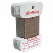 Silamide Light Brown 40 yard Card ca 36m