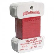 Silamide Red 40 yard Card ca 36m