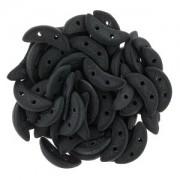 Crescent Beads matte Jet 3x10mm ca 10 gr