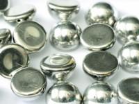 Dome Beads 14x8mm Jet Full Labrador 10 Stück