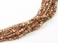 Glasschliffperlen 2mm Crystal Capri Gold ca 150 Stück