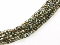 Glasschliffperlen 2mm Crystal Graphite Rainbow ca 150 Stück