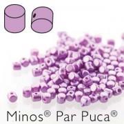 Minos par Puca ® 2,5x3mm 02010-25012 Pastel Lila ca 10 gr Sapphire ca 10 gr