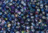 Glasperlen rund gepresst Crystal Magic Blue 3mm ca 150 Stück