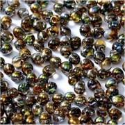 Miyuki Tropfen Beads 3,4mm Czech Coating 55013 Crystal Magic Copper ca 10 gr