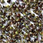 Miyuki Tropfen Beads 3,4mm Czech Coating 55014 Crystal Magic Green ca 10 gr