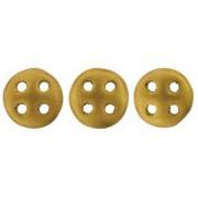 Quadralentil 6mm matt Metallic Antik Gold ca 10 Gramm
