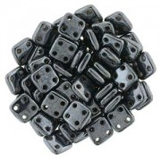 Quadratile Beads Jet Hematite ca 10 gr