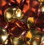 Ripple Beads 12mm Crystal California Gold Rush 20 Stück