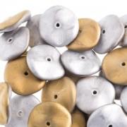 Ripple Beads 12mm Crystal California Silver matt 20 Stück