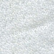 Miyuki Spacer Beads 3X1,3mm matt rainbow Crystal ca 10 gr