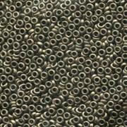 Miyuki Spacer Beads 3X1,3mm metallic dark Bronze ca 10 gr