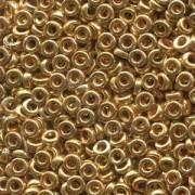 Miyuki Spacer Beads 2,2X1mm galvanized Gold ca 10 gr