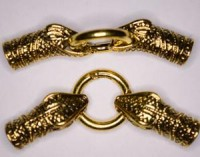 Verschluss Schlangenkopf 75x25x14mm goldfarben