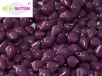 Spiky Button 4,5x6,5mm Chalk White Lila Vega Luster ca 50 Stueck