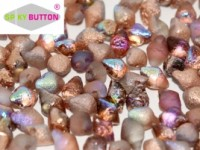 Spiky Button 4,5x6,5mm Crystal Etched Copper Rainbow